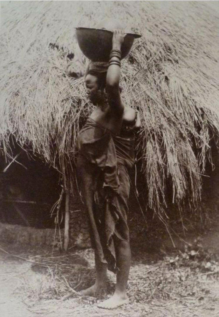 1890. Трансвааль. Зулуска с ребенком