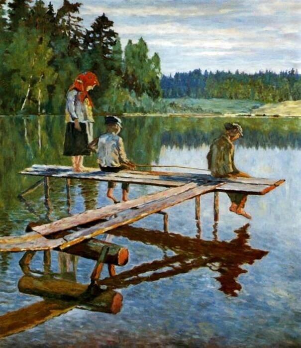 Богданов-Бельский, Рыбалка