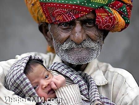 Самый старый отец - 90 лет