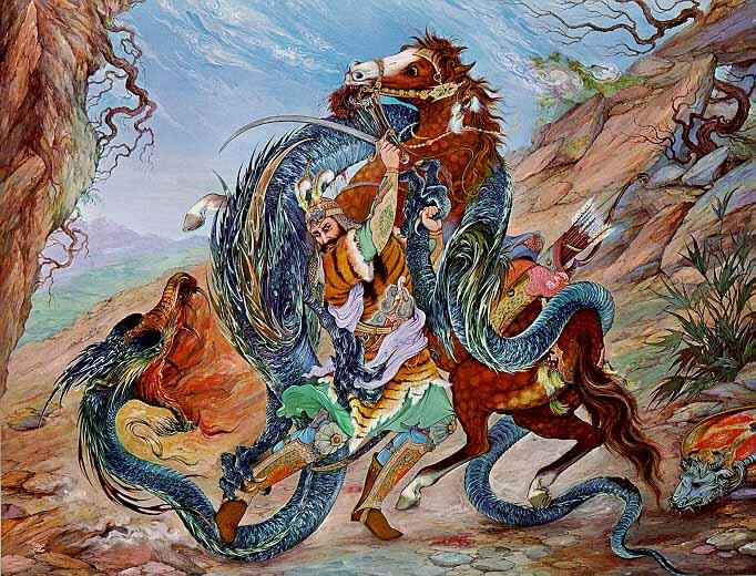 Художник Махмуд Фарщиан (Ostad Mahmoud Farshchian). Волшебная персидская сказка