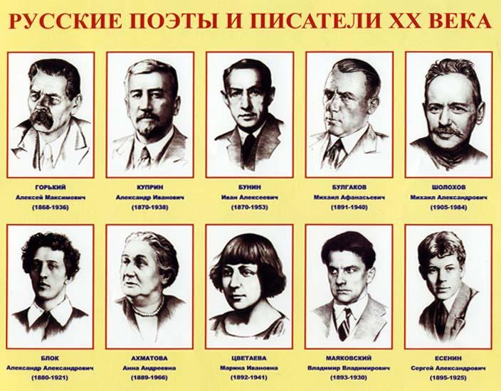 Русские поэты и писатели XX века