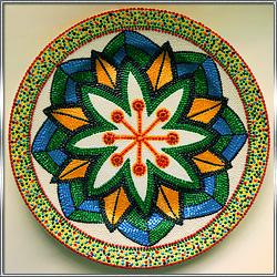 Тарелка декоративная интерьерная с росписью
