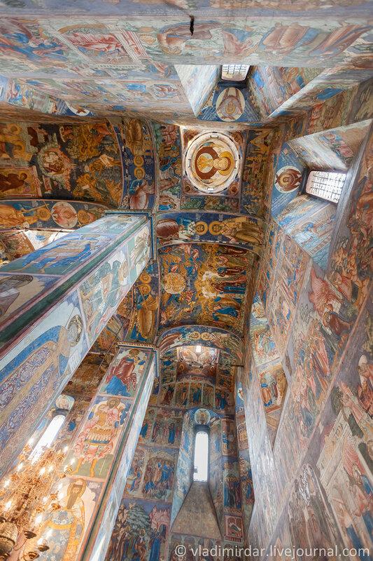Настенные росписи Ильинской церкви. Ярославль. Золотое Кольцо.