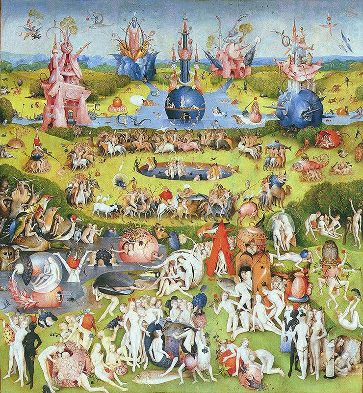 The Garden of Earthly Delights by Hieronymus Bosch, центральная часть триптиха