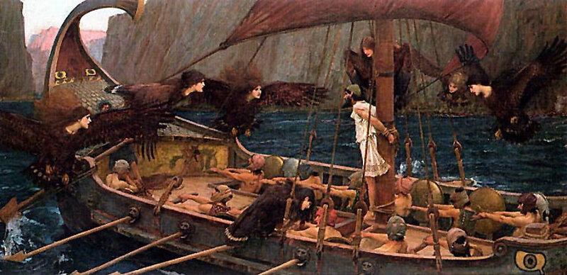 Уотерхаус Джон Уильям, Одиссей и сирены1891