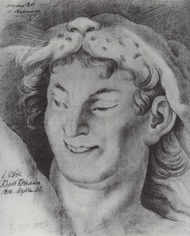 Карл Боюллов, Голова Вакха