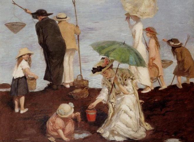 Рупертт Чарльз Банни Ловля креветок в Санта-Джорджии 1910 г.