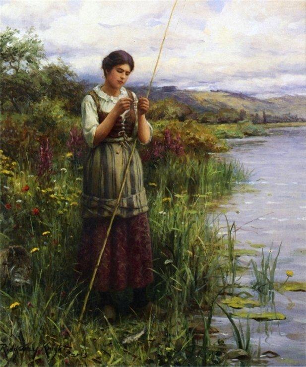 """Daniel Ridgway Knight (Даниел Ридвейт Найт) , серия """"Деревенские девушки на рыбалке"""""""