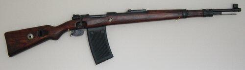 Вариант карабина с магазином.В магазине 25 патронов.  Гранаты Также карабин Маузер 98К мог метать гранаты.