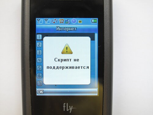 Мобильный телефон Fly SL140 DS - браузер
