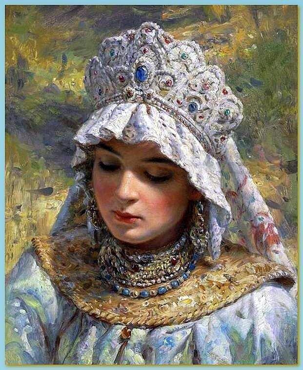Константин Егорович Маковский (1839-1915) Русская красавица в кокошнике.jpg