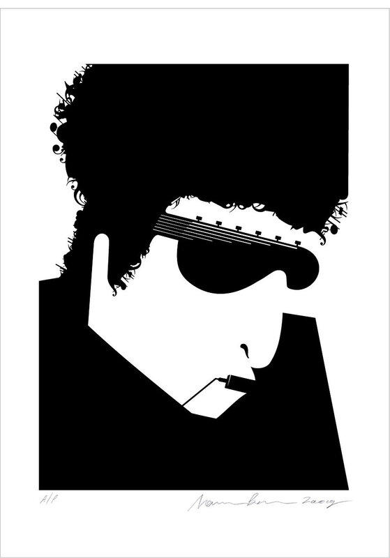 иллюстратор Нома Бар  (Noma Bar),Боб Дилан (Bob Dylan)