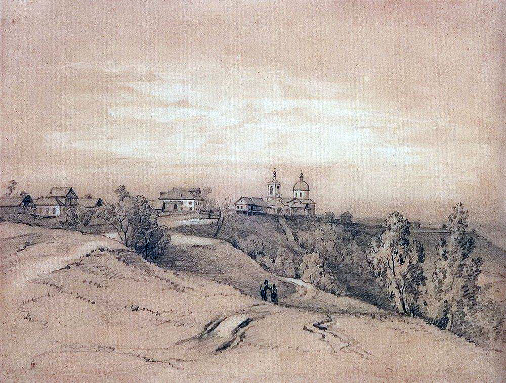 Воробьевы горы близ Москвы. Конец 1840-х - 1850-е.jpg