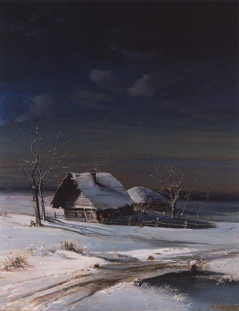 Зимний пейзаж, 1871.jpg