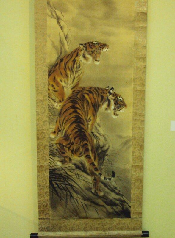 Панно свиток с тиграми