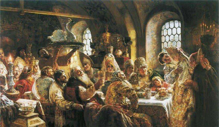 К. Маковский Боярский свадебный пир в xvii веке 1883.