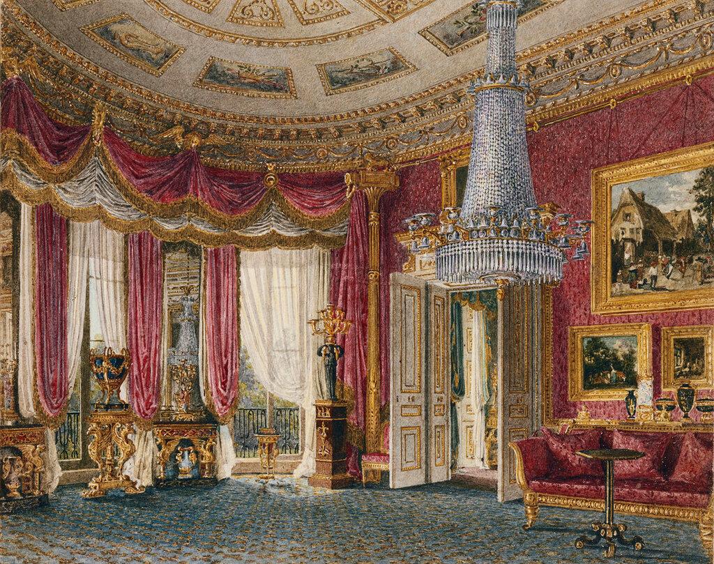 Роза атласная гостиной, глядя на запад, Carlton House.