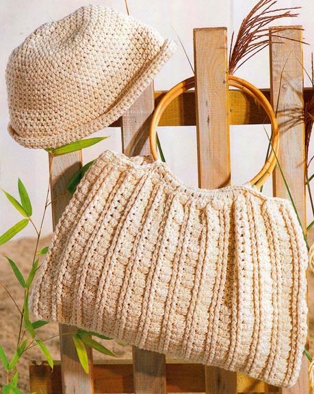 сумка вязаная спицами летняя - Сумки.