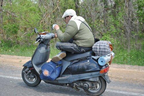 Багажник для скутера своими руками