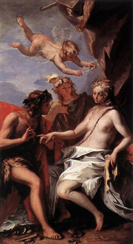 Себастьяно Риччи, ок. 1713 г.Лондон, Чизик-хаус,  Вакх и Ариадна