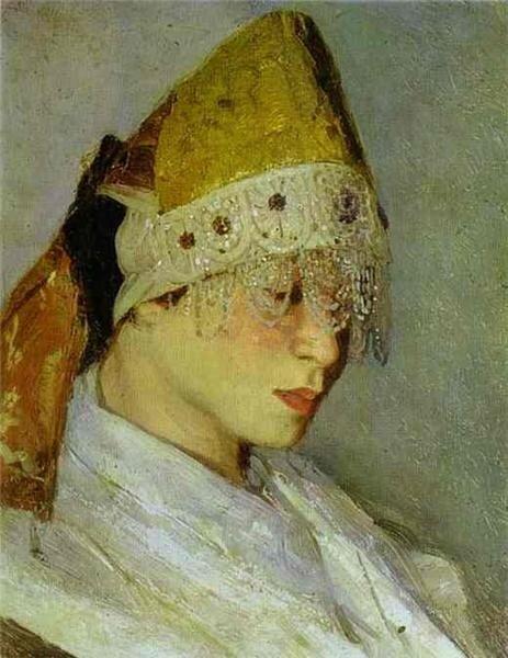 М. Нестеров, Девушка в кокошнике