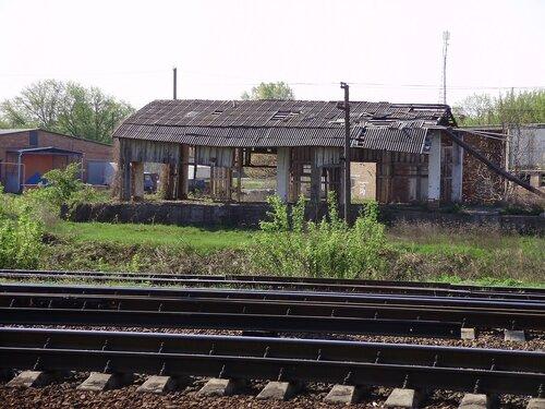 Строение недалеко от станции Миргород