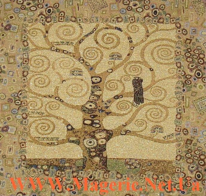 Картина гобелен - Древо жизни III, Густав Климт 50 х 50 см.
