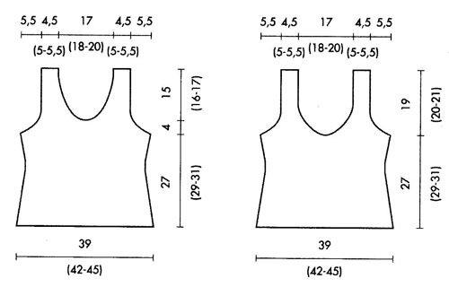 схема летнего топа спицами