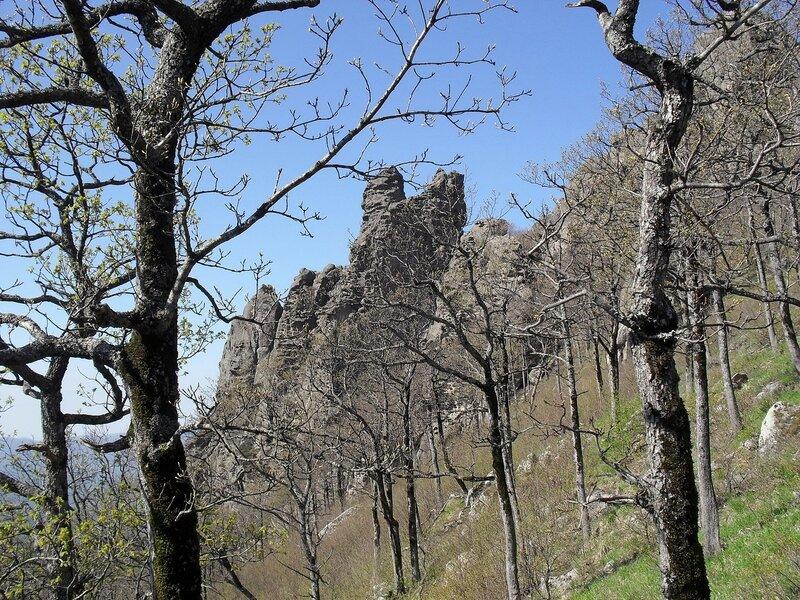 Горы, весна 2010, скалы Индюка