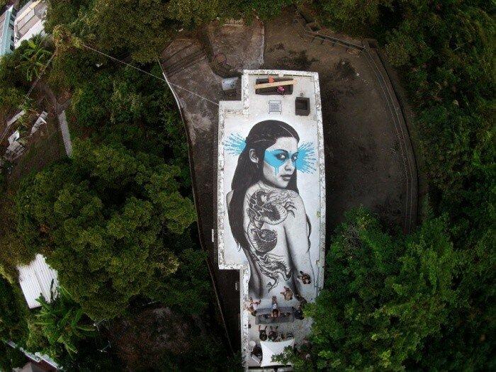 Уличный художник Fin DAC.