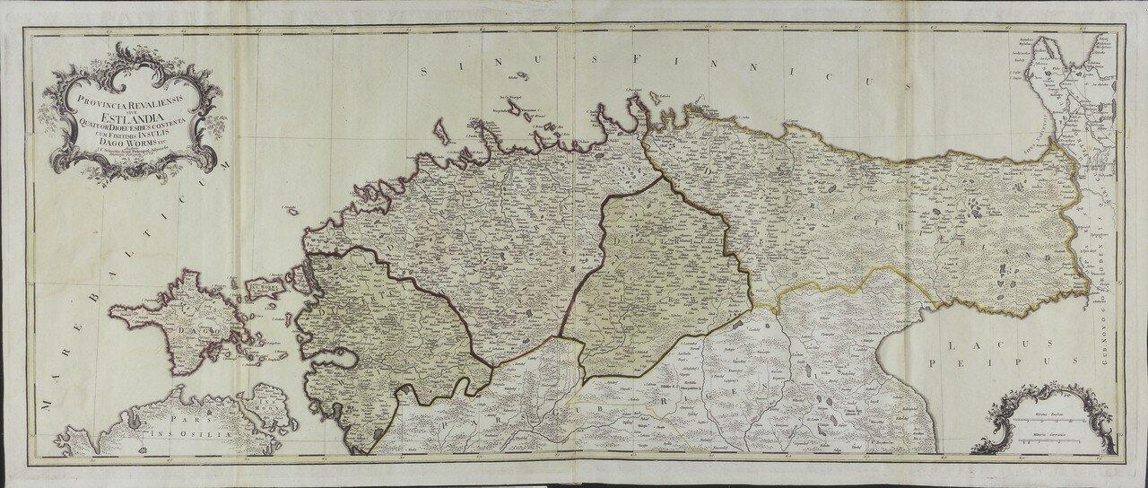 1770. Эстляндия или Ревельская провинция.