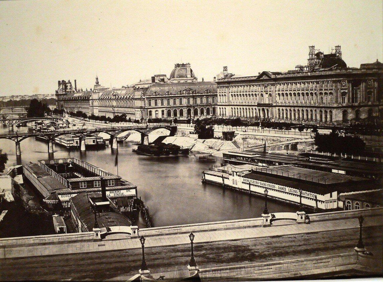 1850-е. Вид Сены с Нового моста