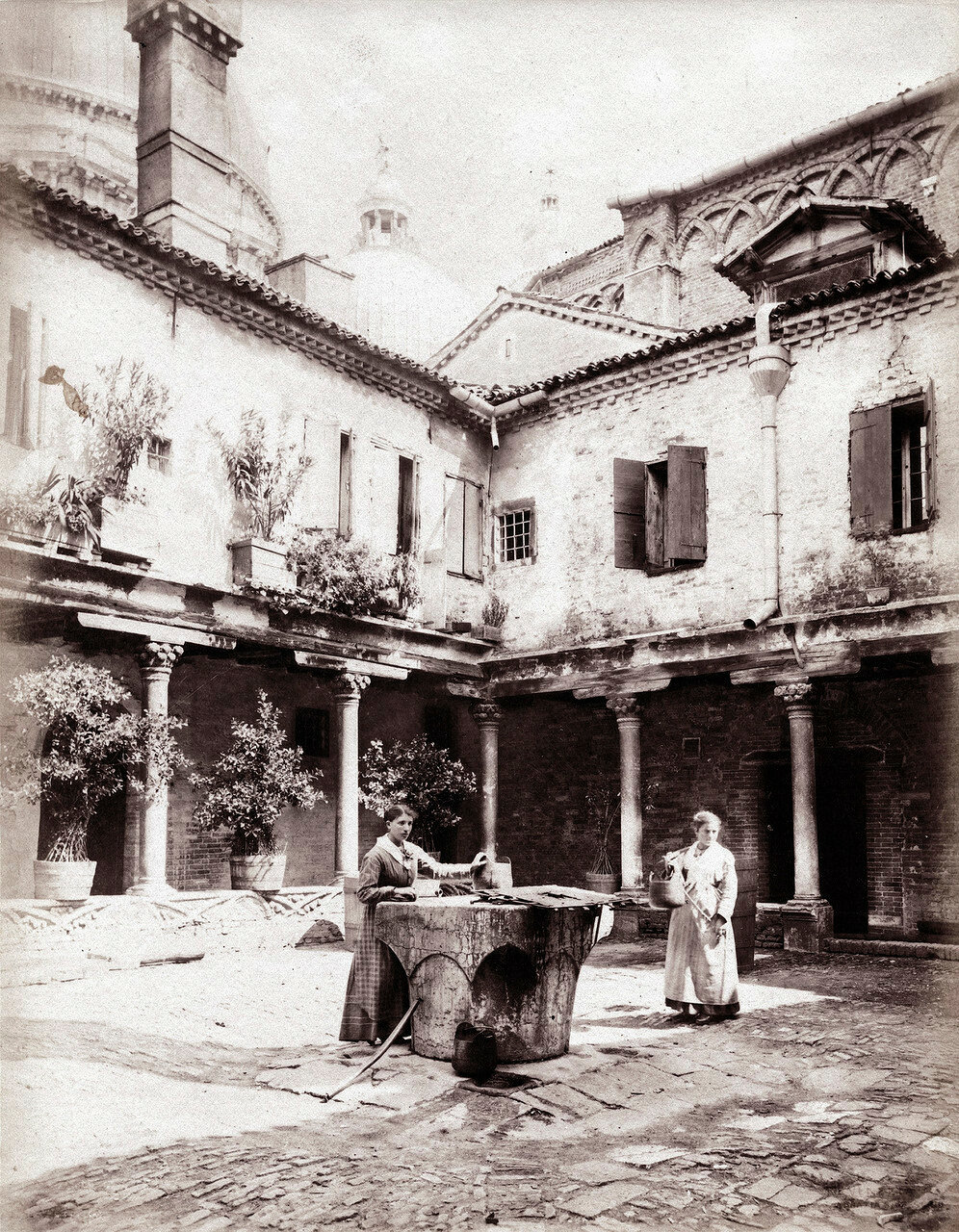 Двор Аббатства Сан Грегорио 1870