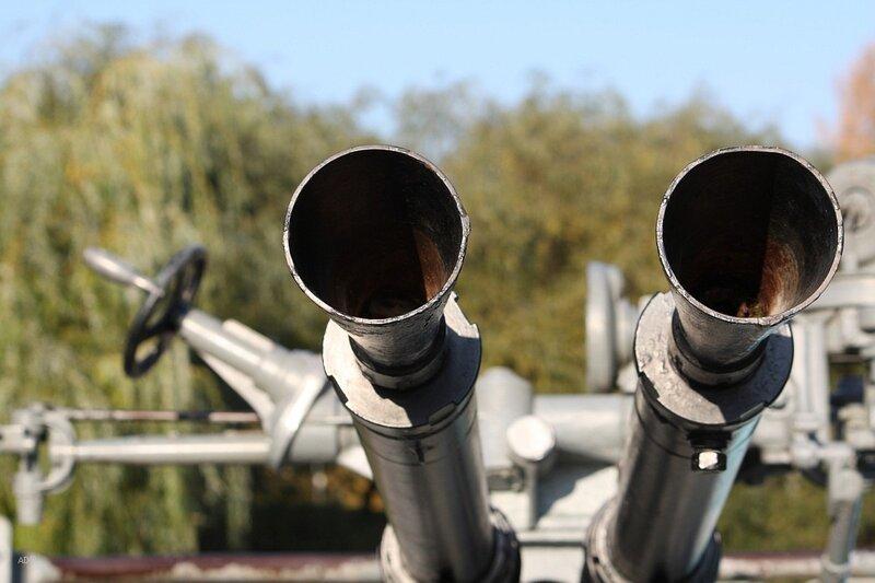 Зенитная артиллерия из спаренных станковых крупнокалиберных пулеметов ДШК