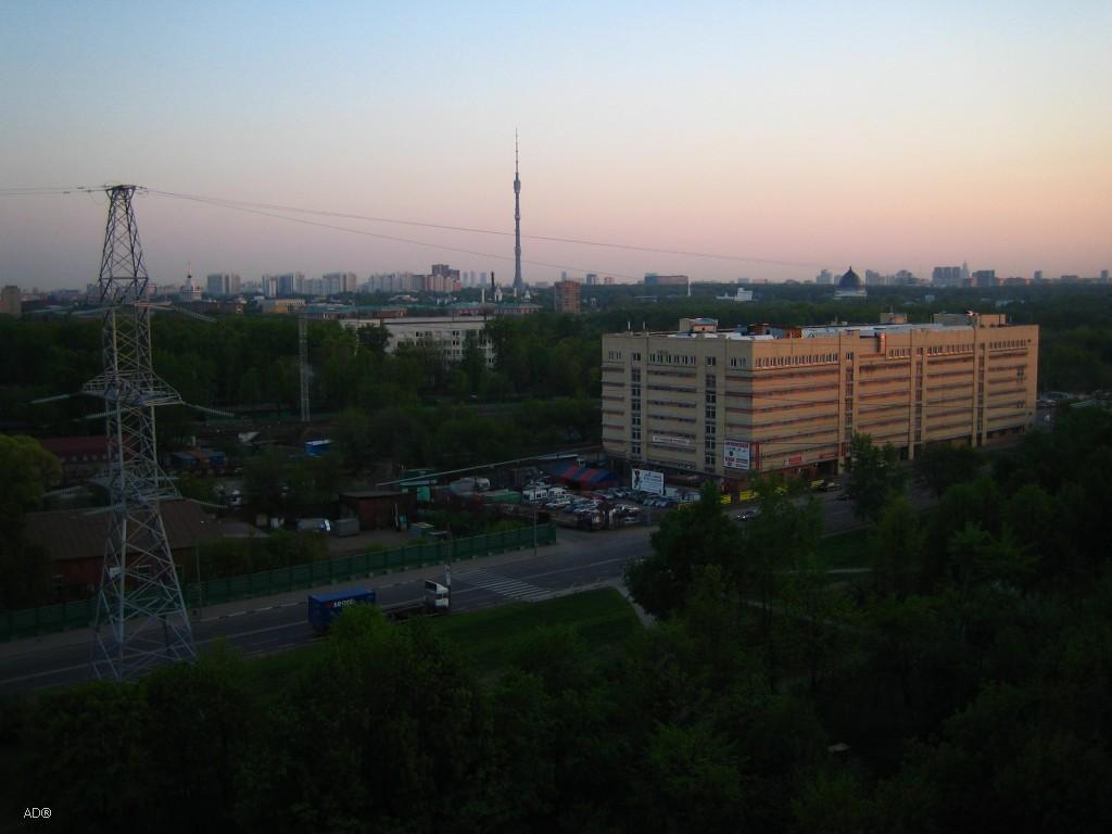 закат в начале мая