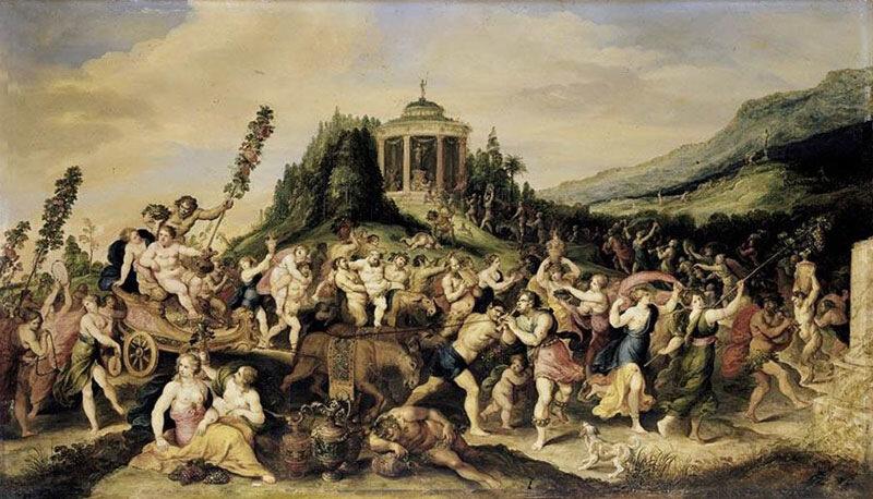 Франс Франкен II.Частная коллекция, Триумф Вакха