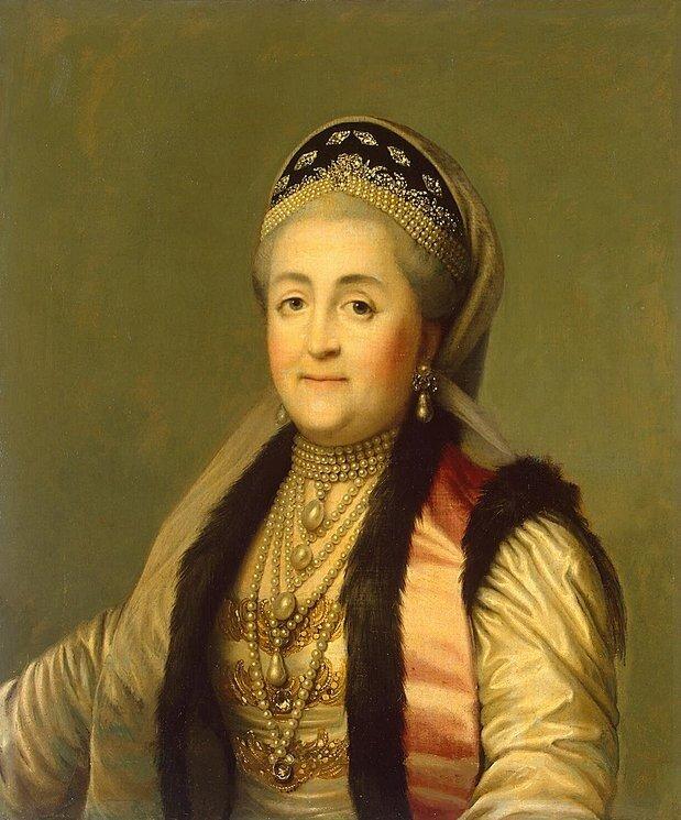 Erichsen Virgilius, Портрет Екатерины II в кокошнике