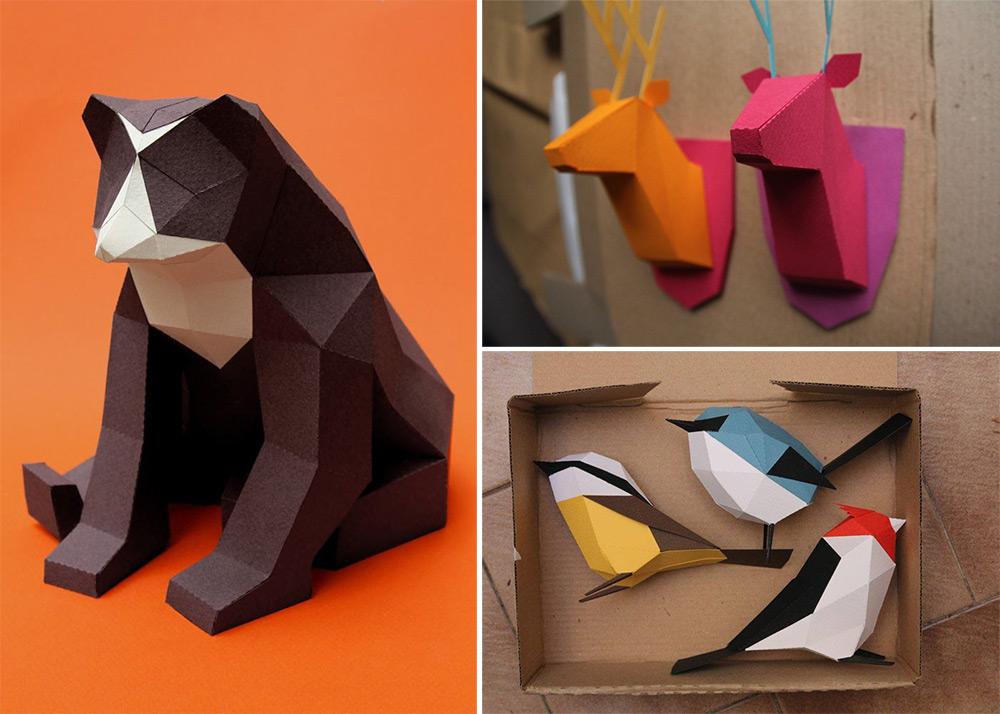 Геометрические скульптуры из бумаги