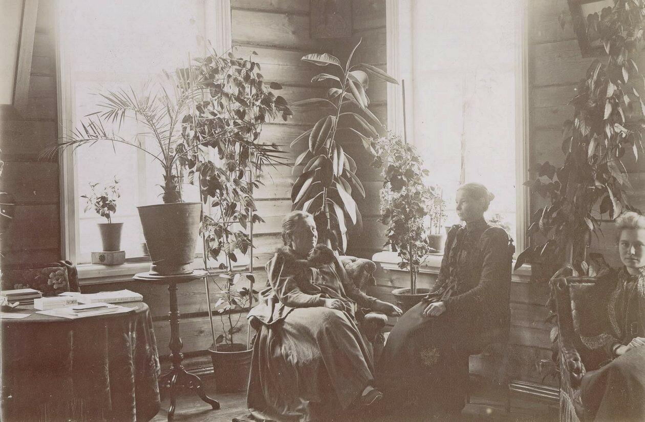 Фрагмент гостиной комнаты в деревянном флигеле Александры петровны Кузнецовой