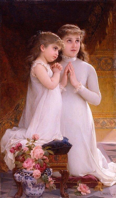 """Схема -  """"Вечерняя молитва """", фото 1 - Схемы для вышивания крестиком."""