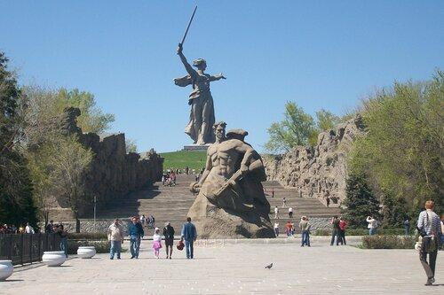 Мамаев Курган накануне юбилея Победы
