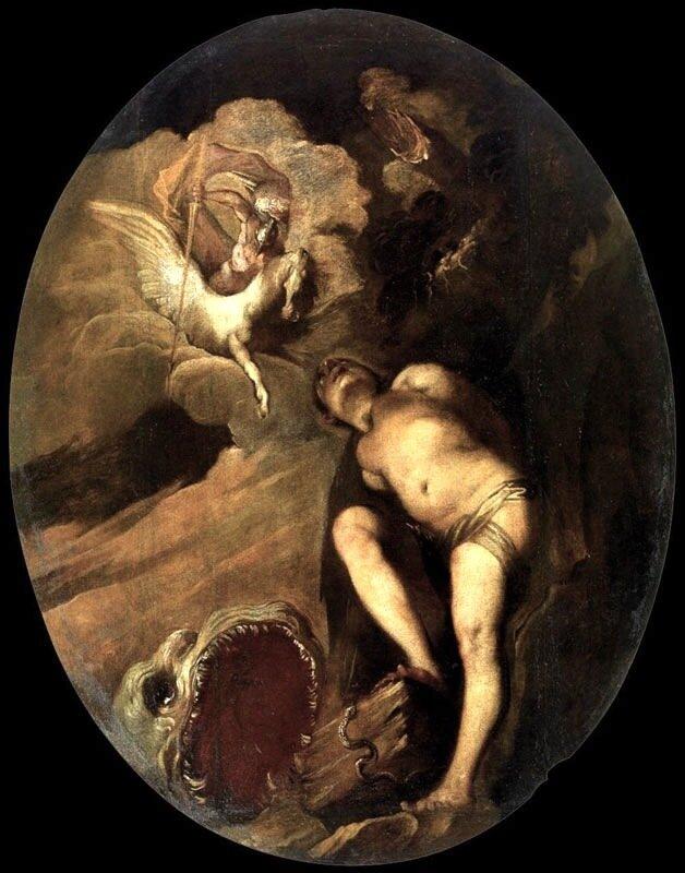 Персей, освобождающий Андромеду, Франческо Маффеи, 1657-58 гг.Венеция, собрание венецианского сеттеченто, дворец Редзонико