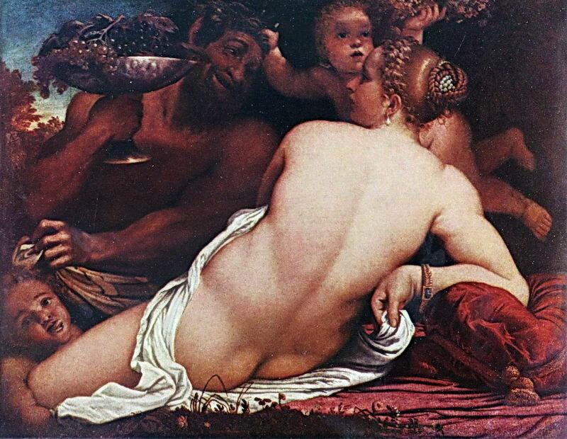 Карраччи Аннибале, Вакханка и Сатир, фрагмент