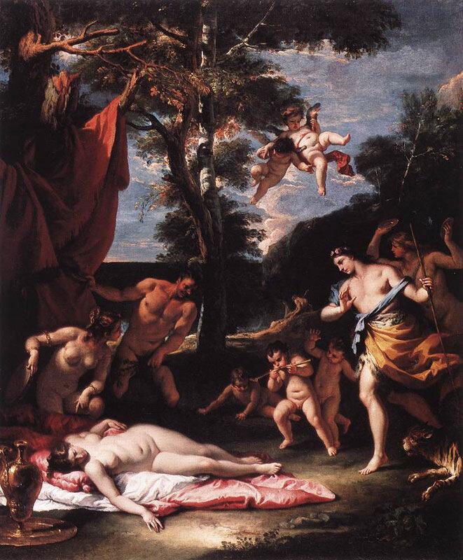 Себастьяно Риччи, ок. 1713 г., Встреча Вакха и Ариадны
