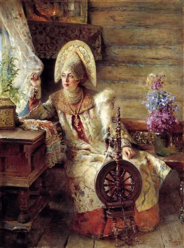 Константин Маковский, Боярышня у окна