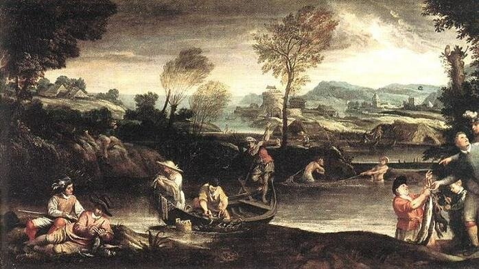 Аннибале Каррачи Рыбалка 1595 г.