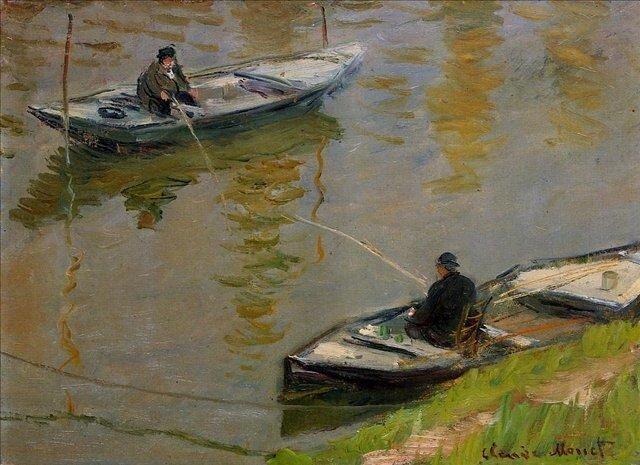 Моне Клод, Два рыболова
