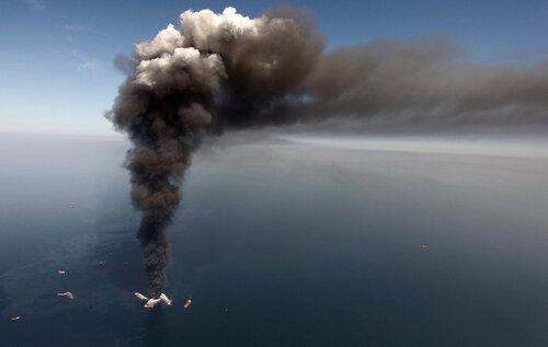 пожежа на нафтовій платформі