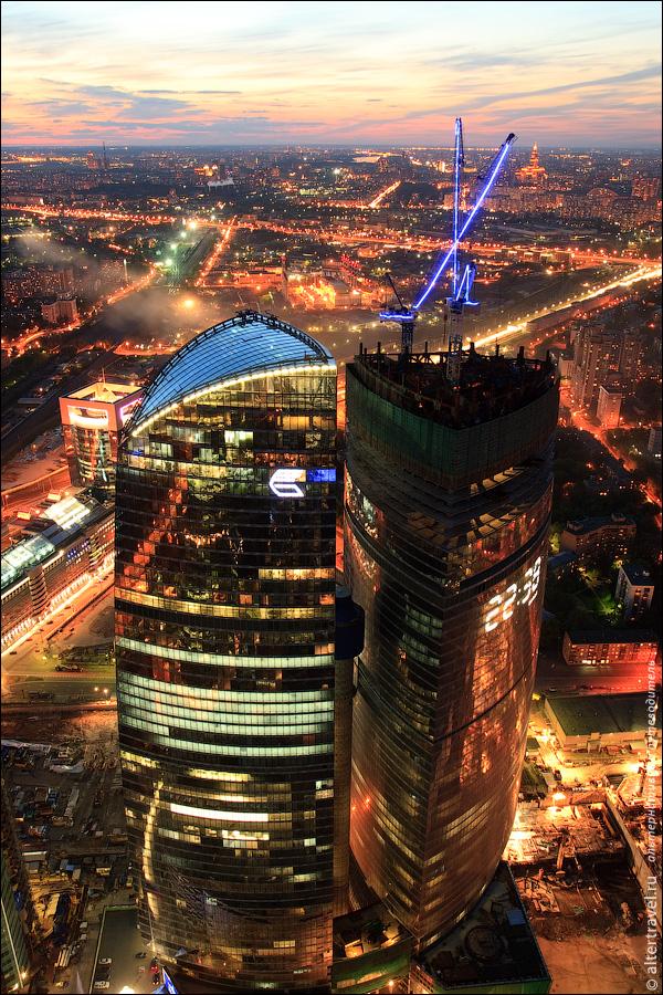 Виды Москвы с 77 этажа