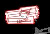 Проект жилого дома. В поселке Благовещенка, Патницкое шоссе 12 км. Габаритная трехмерная схема поекции внешних стен, лестничными переходами и уровнем второго этажа, с балконом над прихожей первого этажа. Максим Аммосов, Maxim Аmmosov